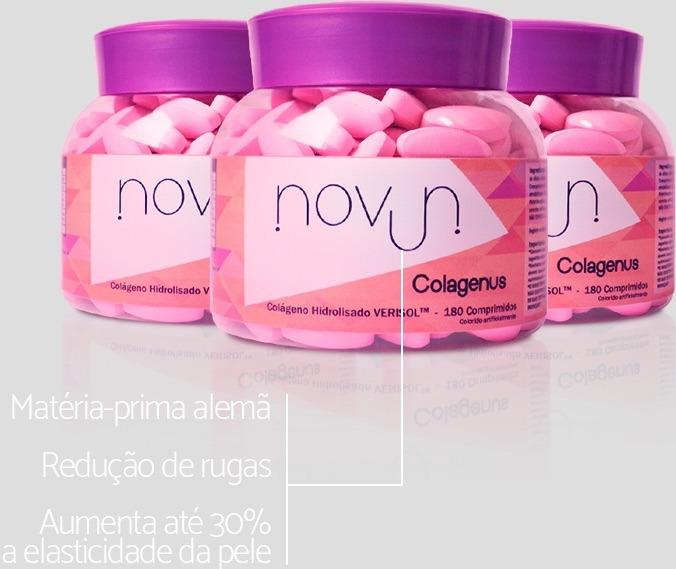 Novun Colágenus - Qualidade comprovada em redução de rugas.